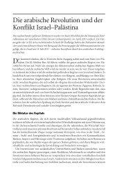 Die arabische Revolution und der Konflikt Israel ... - Emanzipation