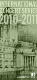 international concert series 2010-2011 - University of Leeds ...