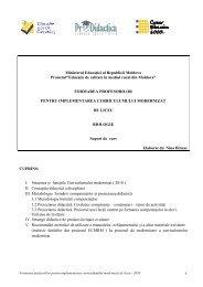 1 Ministerul EducaŃiei al Republicii Moldova ... - Pro Didactica
