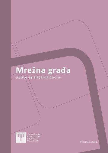 Mrežna građa - NSK - Nacionalna i sveučilišna knjižnica u Zagrebu