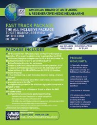FAST TRACK PACKAGE - American Academy of Anti-Aging Medicine