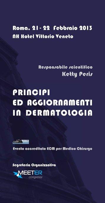 Programma scientifico - l'agenda del dermatologo