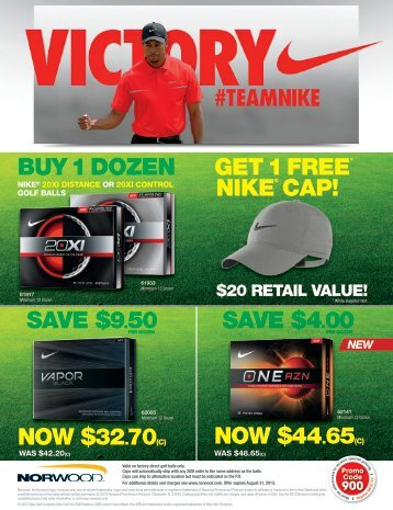 get 1 free nike® cap! - Norwood Promotional Products