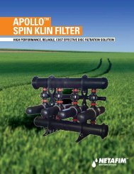 APOLLO™ SPIN KLIN FILTER - Netafim