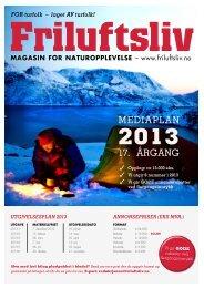 Mediaplan 2013 - Friluftsliv