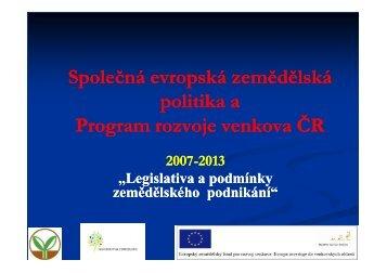 Program rozvoje venkova - Portál KIS
