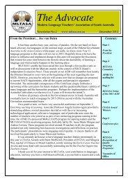 December 2012 - Modern Language Teachers