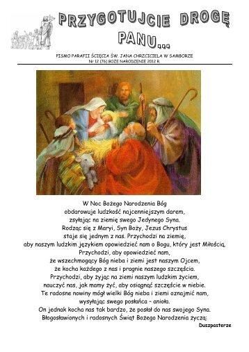 Nr 12 _76_ BOŻE NARODZENIE - 2012 r - Parafia Ścięcia Św. Jana ...