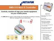 SMS-315 Next G Controller - Netafim