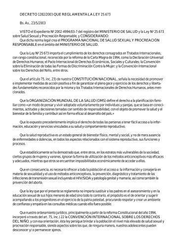 decreto 1282 reglamenta ley 25673 - UnTER