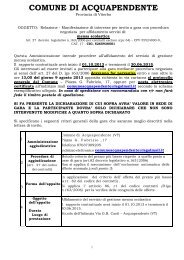 Manifestazione di interesse per invito a gara - Comune di ...