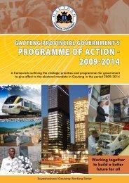 proGrAmmE of AcTioN - 2009-2014 - Gauteng Online