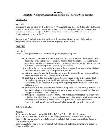 Statutul F.A.C.E. - AGVPS