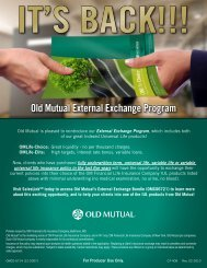 Old Mutual External Exchange Program - AMZ Financial Insurance ...