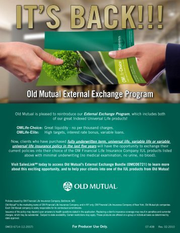 Old Mutual External Exchange Program - AMZ Financial Insurance ...