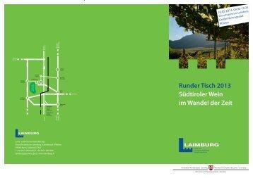 Runder Tisch 2013 Südtiroler Wein im Wandel der Zeit