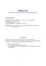 Návod Miracle starý