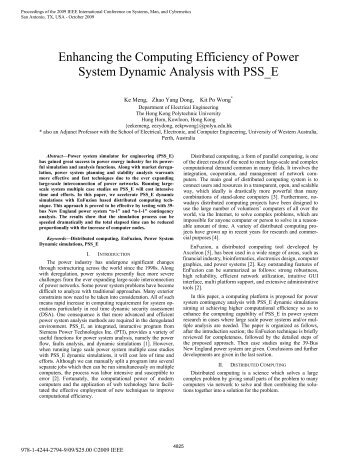 Enhancing the Computing Efficiency of Power System ... - Axceleon