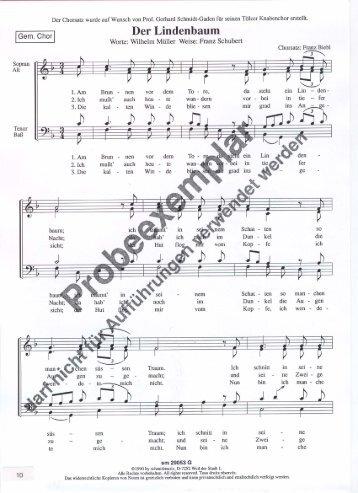 Der Lindenbaum - Schmidmusic.de
