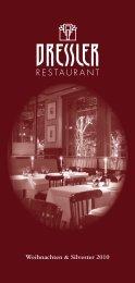 Weihnachten & Silvester 2010 - Restaurant Dressler