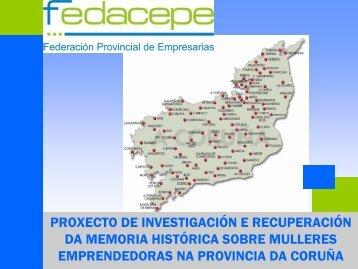 Proxecto de investigación e recuperación da memoria histórica ...