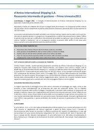 Comunicato stampa - Investor Relations