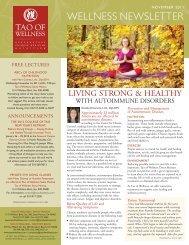 November 2011 - Tao of Wellness