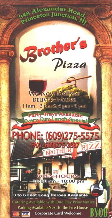 Brother's Pizza Menu - NJ Menus