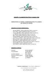 CONSEIL D'ADMINISTRATION 18 MARS 2004 - Les Jeudis de l ...