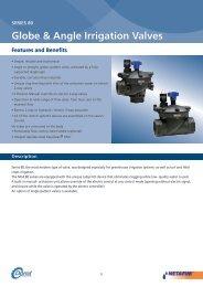 Globe & Angle Irrigation Valves - Netafim