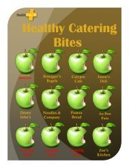The Healthy Bites Catering Vendor List - Health and Wellness