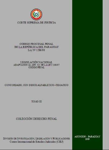 Código Procesal Penal de la República del ... - Poder Judicial
