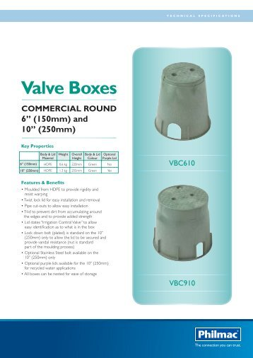 Commercial Round Valve Boxes