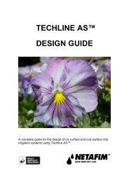 TECHLINE AS™ DESIGN GUIDE - Netafim