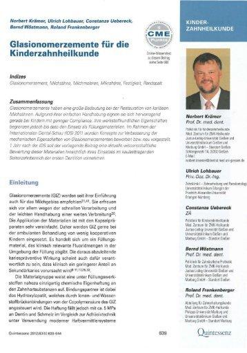 Glasionomerzemente für die Kinderzahnheilkunde - GC Europe