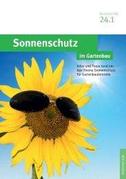 Sonnenschutz im Gartenbau - GBG 24.1 - SVLFG