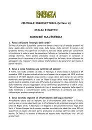ITALIA E EGITTO DOMANDE SULL'ENERGIA