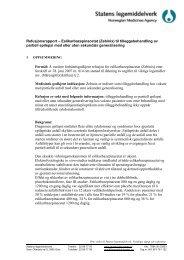 Eslikarbazepinacetat (Zebinix) - Statens legemiddelverk