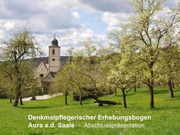 Denkmalpflegerischer Erhebungsbogen - Aura an  der Saale