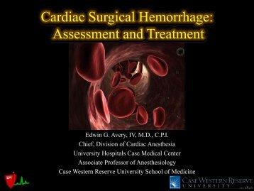 Cardiac Surgical Hemorrhage: Assessment and ... - Casecag.com