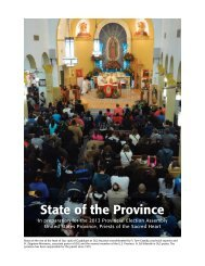 State of the Province - Priests of the Sacred Heart