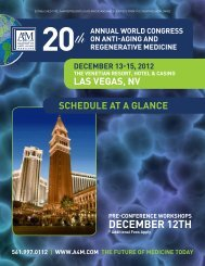 SChEDULE At A GLANCE - American Academy of Anti-Aging ...