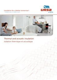 Thermal and acoustic insulation Isolation thermique et ... - Ursa