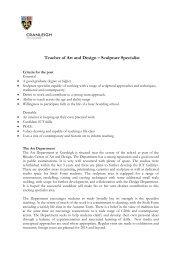 Teacher of Art and Design – Sculpture Specialist - Cranleigh School