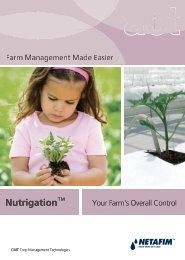 Nutrigation™ Nutriga ation - Netafim