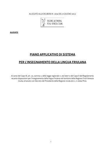 Allegato 1 alla Delibera 1034-2012 - Regione Autonoma Friuli ...