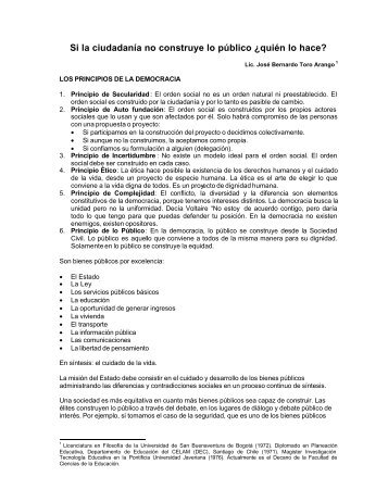 Principios de la democracia - Documento PDF