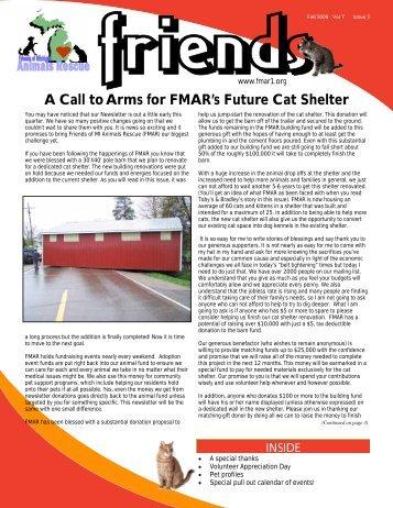 2009 3rd Quarter Newsletter - Friends of MI Animals Rescue