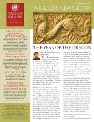 February 2012 - Tao of Wellness