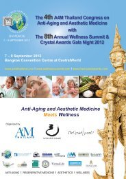 The 4thA4M Thailand Congress on Anti-Aging and Aesthetic ...